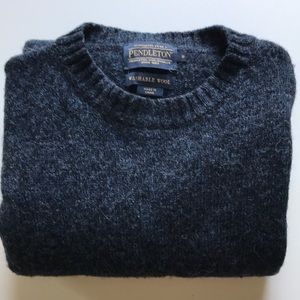 Pendleton Shetland Washable Wool Crewneck, Indigo
